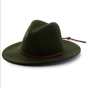Brixton Field Hat Wool Heather Green Fedora